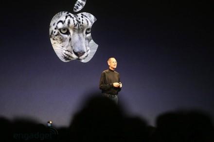 Steve Jobs anunciando Snow Leopard