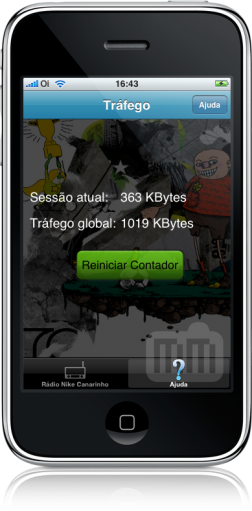 Rádio Nike Canarinho no iPhone