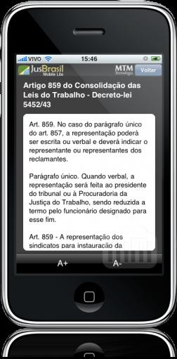JusBrasil Mobile Lite - CLT, art 859, 1