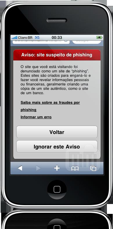 Proteção contra Phishing no Safari do iPhone OS 3.0