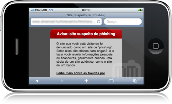 Proteção contra Phishing no Safari do iPhone OS 3.0