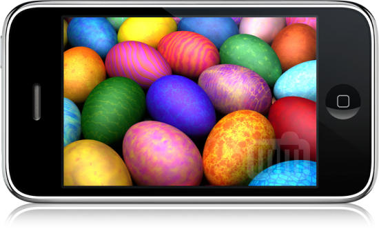 Ovos de Páscoa no iPhone