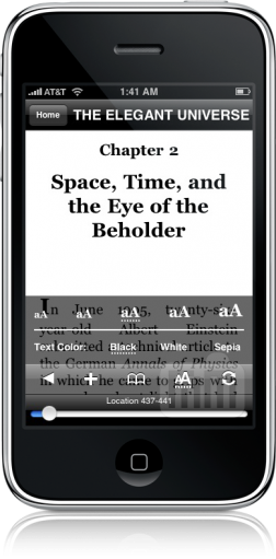 Kindle 1.1 para iPhone