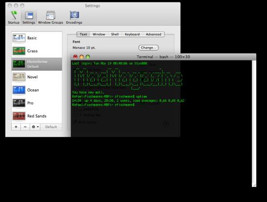 Terminal do Mac OS X