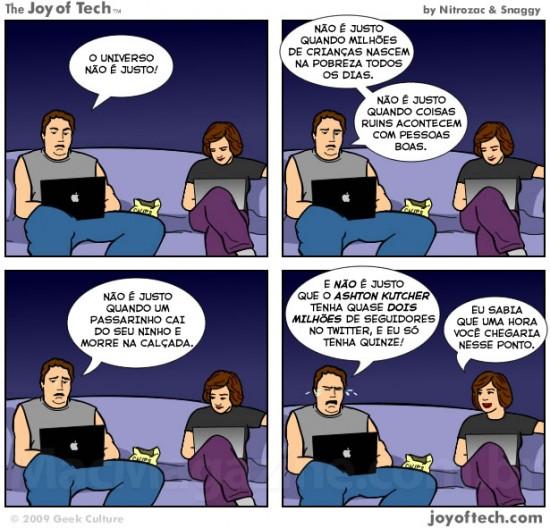 Joy of Tech: o universo não é justo