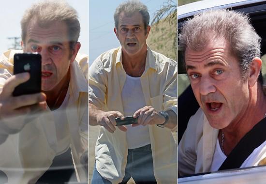 Mel Gibson e iPhone