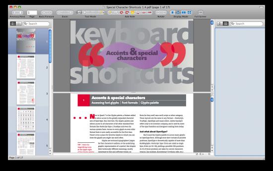 Modo Show Split PDF ligado