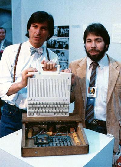 Steve Jobs e Steve Wozniak, fundadores da Apple