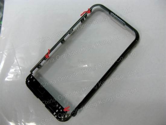 Novo bezel do iPhone 3ª geração