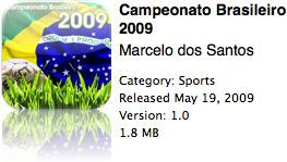 Campeonato Brasileiro 2009 na App Store