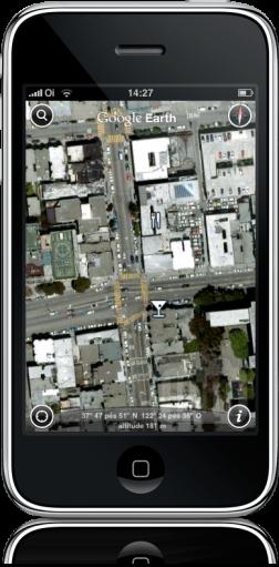 Negócios do Google Earth para iPhone