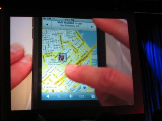Google Latitude no iPhone