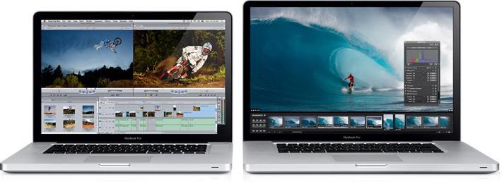 MacBooks Pro de 15 e 17 polegadas