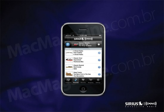 Sirius XM no iPhone