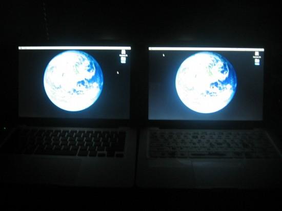 Telas de MacBooks com globos