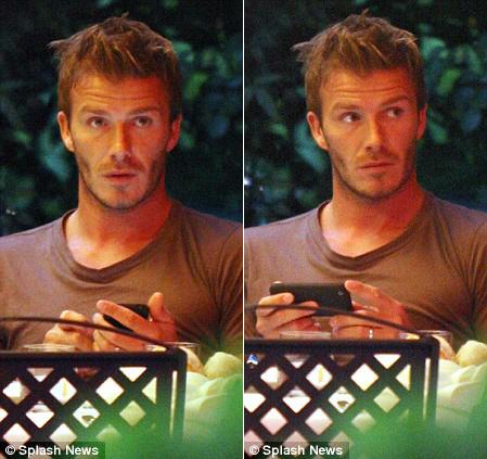 Beckham e seu iPhone