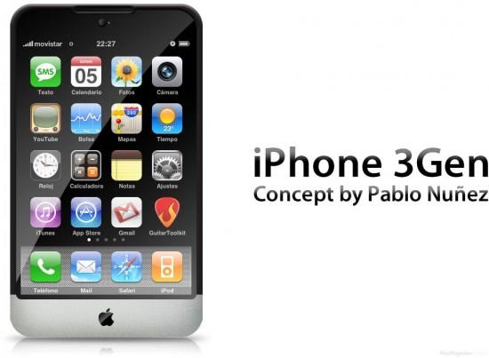 Mockup de iPhone de terceira geração