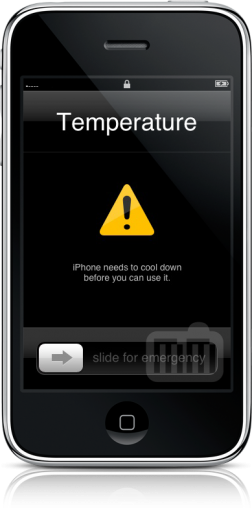 Aviso de temperatura no iPhone