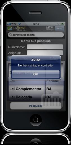 JusBrasil Mobile Lite - busca
