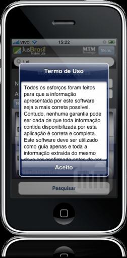 JusBrasil Mobile Lite - termos de uso