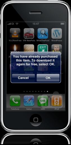 Redownload no iPhone
