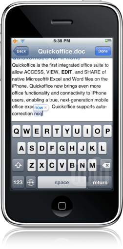 Quickoffice 1.2 no iPhone
