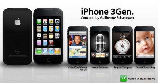 Conceito de iPhone de terceira geração do Guilherme