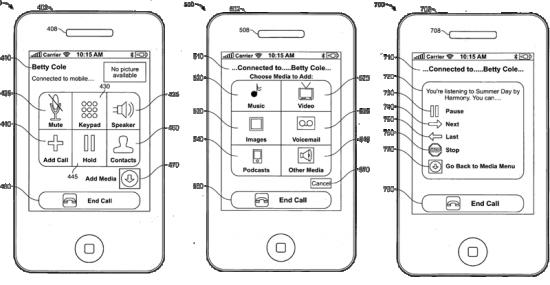 Patente de envio de mídia durante ligações entre iPhones
