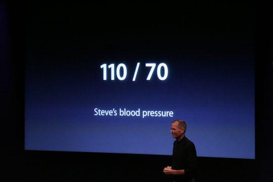 Pressão sanguíena de Steve Jobs