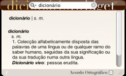 Dicionário.widget