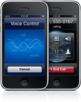 iPhone 3GS com Voice Control