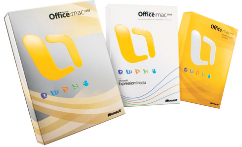 Caixas do Microsoft Office:mac 2008