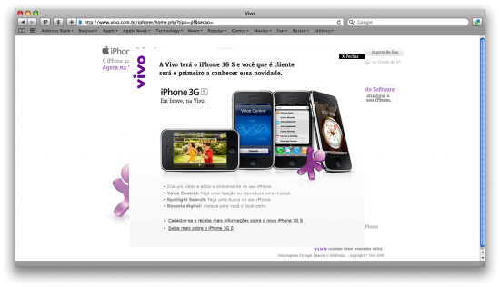 Anúncio do iPhone 3G S