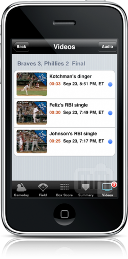 Vídeos no MLB at Bat