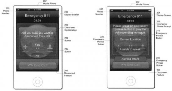 Patente da Apple para ligações de emergência no iPhone