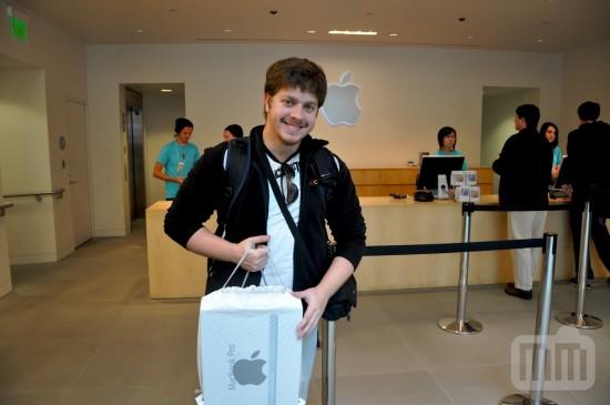 Novo MacBook Pro na loja da Apple