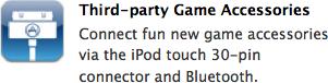 Acessórios para Games na página do OS 3.0