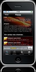 Apontador Cinema no iPhone