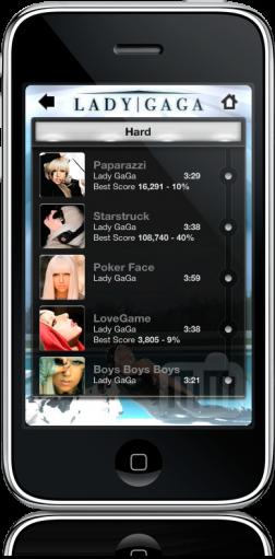 Lady Gaga Revenge no iPhone