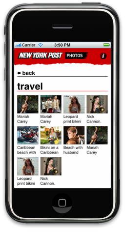 The New York Post no iPhone