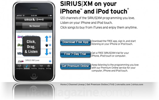 SIRIUS XM para iPhone e iPod touch