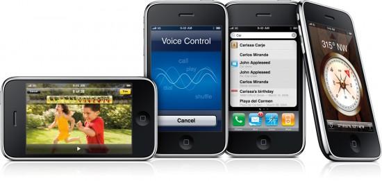 iPhones 3G S lado a lado