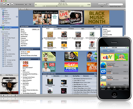 iTunes Store e iPhone