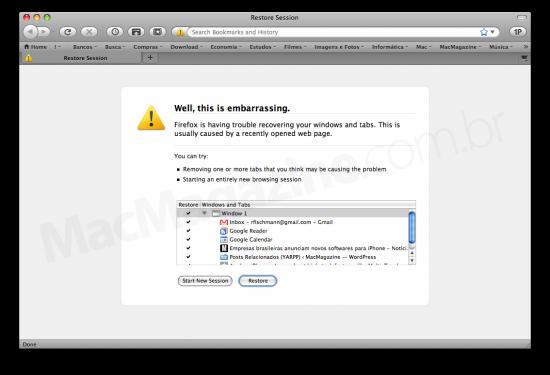 Restore no Firefox 3.5
