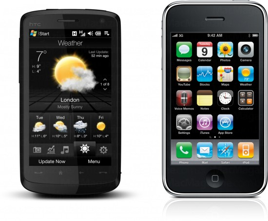 HTC Touch HD vs. iPhone 3G
