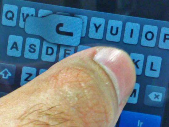 Teclado ferrado no iPhone