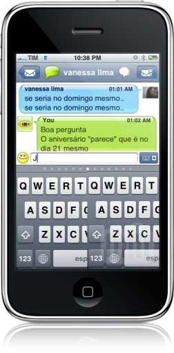 Bug no teclado do IM+ 3.0 do iPhone