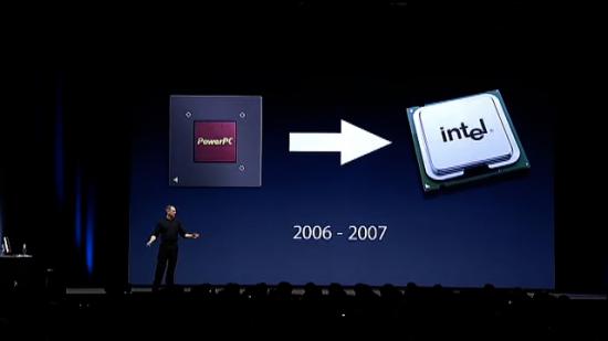 Transição para Intel na WWDC '05