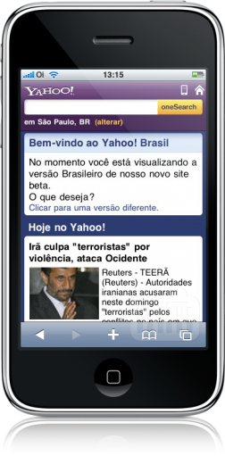 Yahoo! Mobile no iPhone