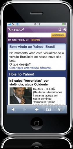 Yahoo! Mobile no iPhone